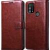 Redmi Note 9 Pro Premium Leather Finish Flip Cover