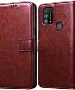 Redmi Note 9 Pro Premium Leather Finish Flip Cover
