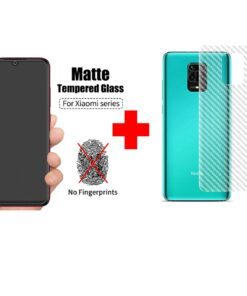 Redmi Note 9 Pro Max Matte Tempered Glass and skin Combo