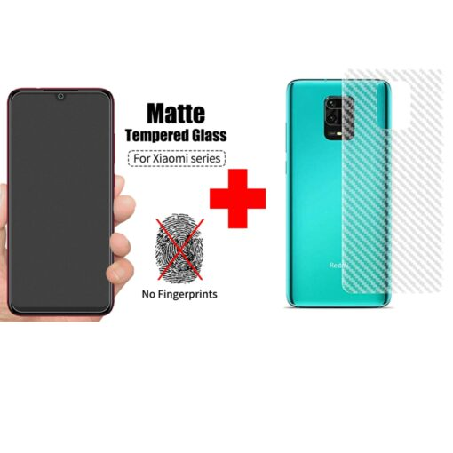 Redmi Note 9 Pro Max Matte Tempered Glass and skin Combo