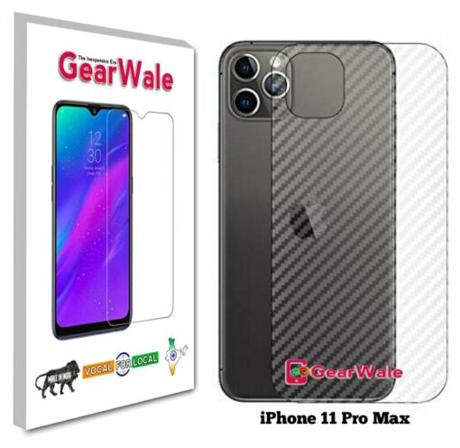 iPhone 11 Pro Max Back Side Glass Protector Gearwale