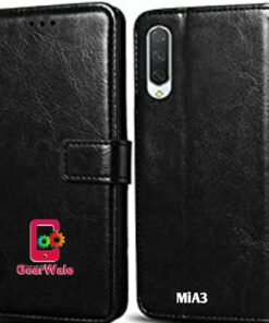 MiA3 Premium Leather Finish Flip Cover