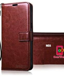 Mi8 Premium Leather Finish Flip Cover