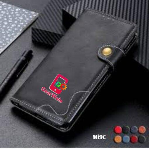 Mi9C Premium Leather Finish Flip Cover