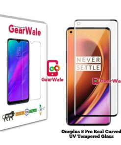 Oneplus 8 Pro Real Curved UV Tempered Glass