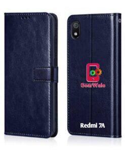 Realme 7A Premium Leather Finish Flip Cover