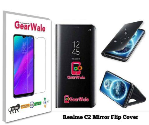 Realme C2 Mirror Flip Cover Exclusive