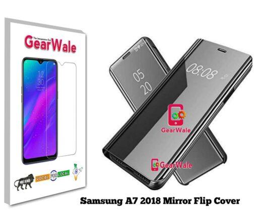 Samsung A7 (2018) Mirror Flip Cover Exclusive