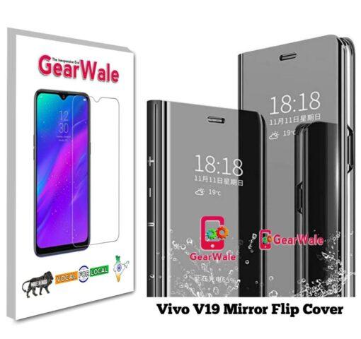 Vivo V19 Mirror Flip Cover Exclusive