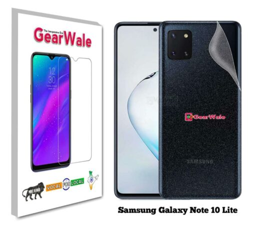 Samsung Galaxy Note 10 Lite Back Side Glass Protector