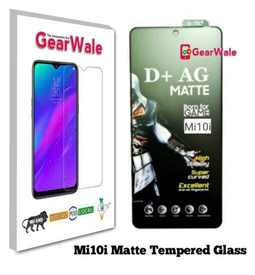 Mi10i Matte Tempered Glass For Gamers