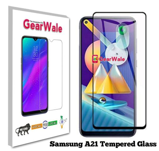 Samsung A21 Tempered Glass 9H Curved Full Screen