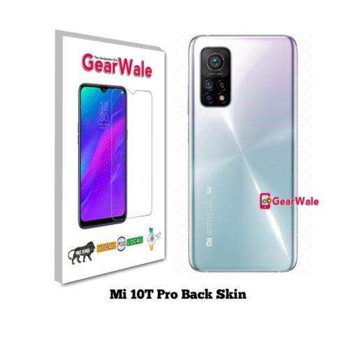 MI 10T Pro Back Side Glass Protector