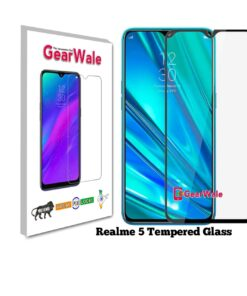 Realme 5 Full Screen Tempered Glass 2.5D Curved 9H Hardness