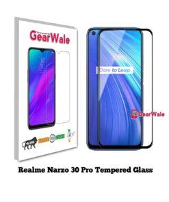 Realme Narzo 30 Pro Full Screen Tempered Glass