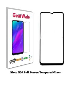 Moto G30 Full Screen Tempered Glass 2.5D Curved Glass