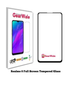 Realme 8 Full Screen Tempered Glass 2.5D Curved Glass