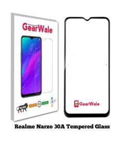 Realme Narzo 30A Full Screen Tempered Glass 2.5D Curved Glass