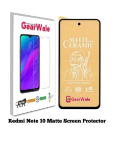 Redmi Note 10 Matte Screen Protector for GAMERS