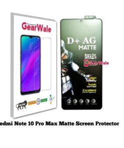 Redmi Note 10 Pro Max Matte Tempered Glass For Gamers