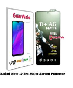 Redmi Note 10 Pro Matte Tempered Glass For Gamers
