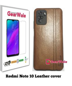 Redmi Note 10 Leather Cover With Camera Protection Special Edition