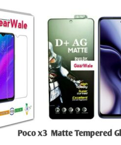 Poco X3 Matte Tempered Glass For Gamers
