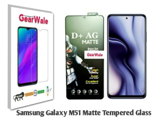 Samsung Galaxy M51 Matte Tempered Glass For Gamers