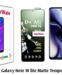 Samsung Galaxy Note 10 Lite Matte Tempered Glass For Gamers