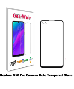 Realme X50 Pro Tempered Glass 9H Curved Full Screen Edge to Edge protected with Camera Hole