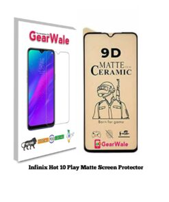 Infinix Hot 10 Play Matte Screen Protector for GAMERS