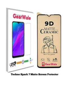 Techno Spark 7 Matte Screen Protector for GAMERS