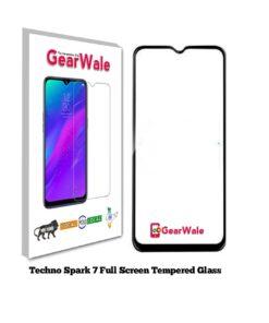 Techno Spark 7 OG Tempered Glass 9H Curved Full Screen