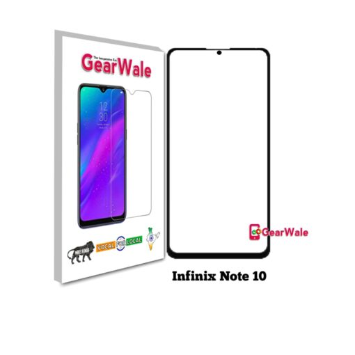 Infinix Note 10 Full Screen Tempered Glass with camera Cut Out