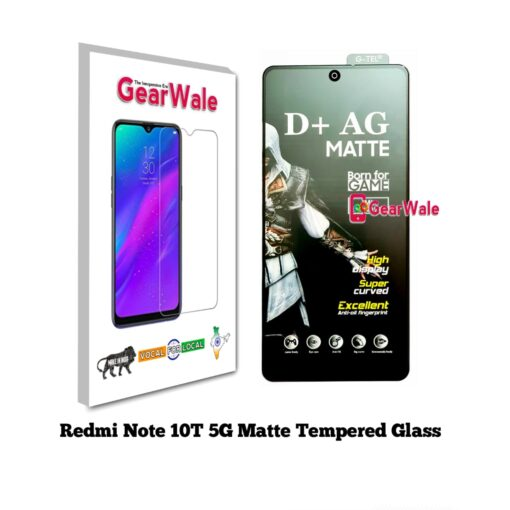 Redmi Note 10 5G Matte Tempered Glass For Gamers