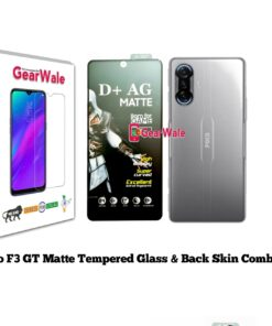 Poco F3 GT Matte Tempered Glass and skin Combo