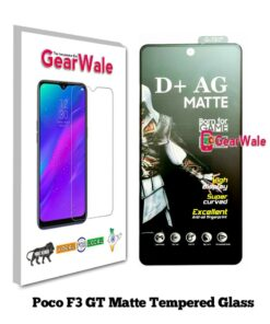 Poco F3 GT Matte Tempered Glass For Gamers