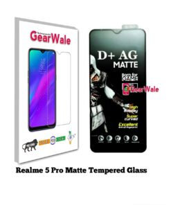 Realme 5 Pro Matte Tempered Glass For Gamers