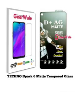 Techno Spark 6 Matte Tempered Glass For Gamers