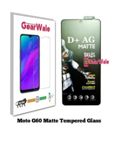 Moto G60 Matte Tempered Glass for Gamers