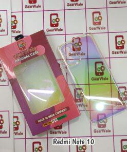 Redmi Note 10 Glass Full Transparent Prism Cover