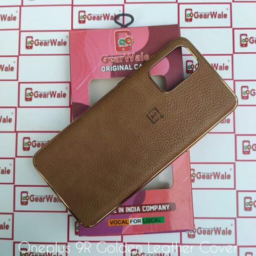 OnePlus 9R Golden Leather Premium Cover