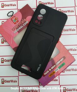 OnePlus Nord 2 Soft Silicon Premium Cover With ATM Card Holder