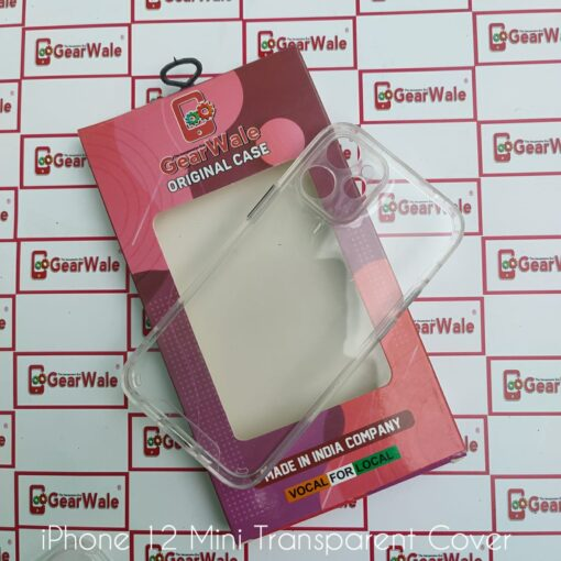 iPhone 12 Mini Hard Transparent Cover With Camera Protection